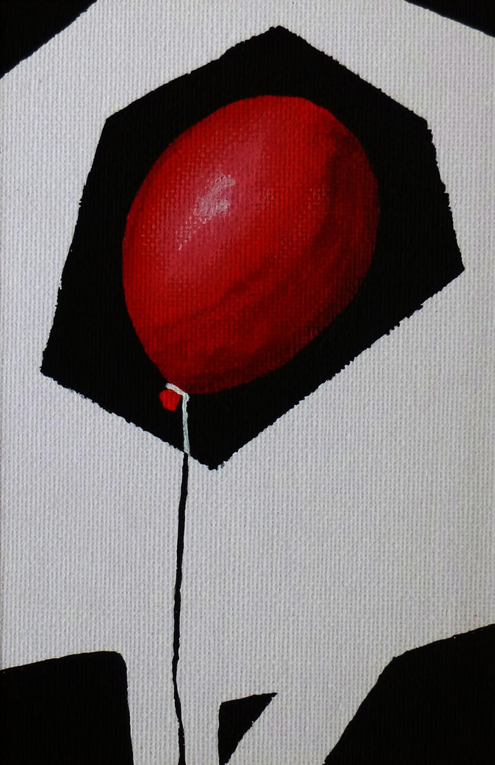 red balloon by DeBegotten