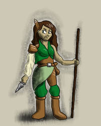 Tish the Uncommon Ranger by GuildmasterPhill