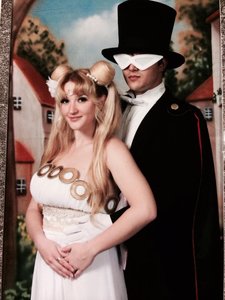 Princess Serenity and Tuxedo Mask by Pokypandas
