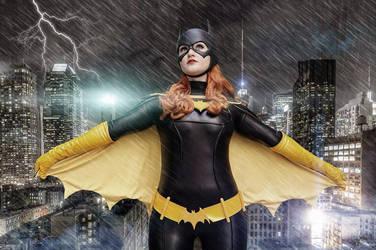 Batgirl in Gotham by Pokypandas