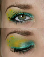 PEACOCK makeup by MadHatterPhotos