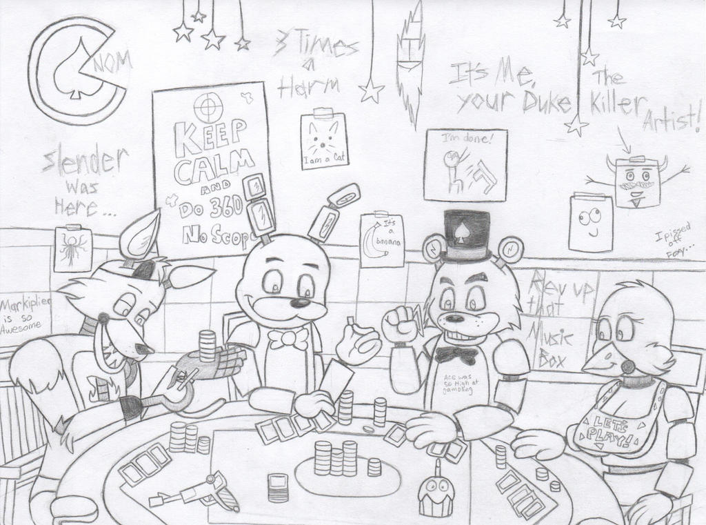 Five poker nights at freddy s by fluffyeevee40 on deviantart