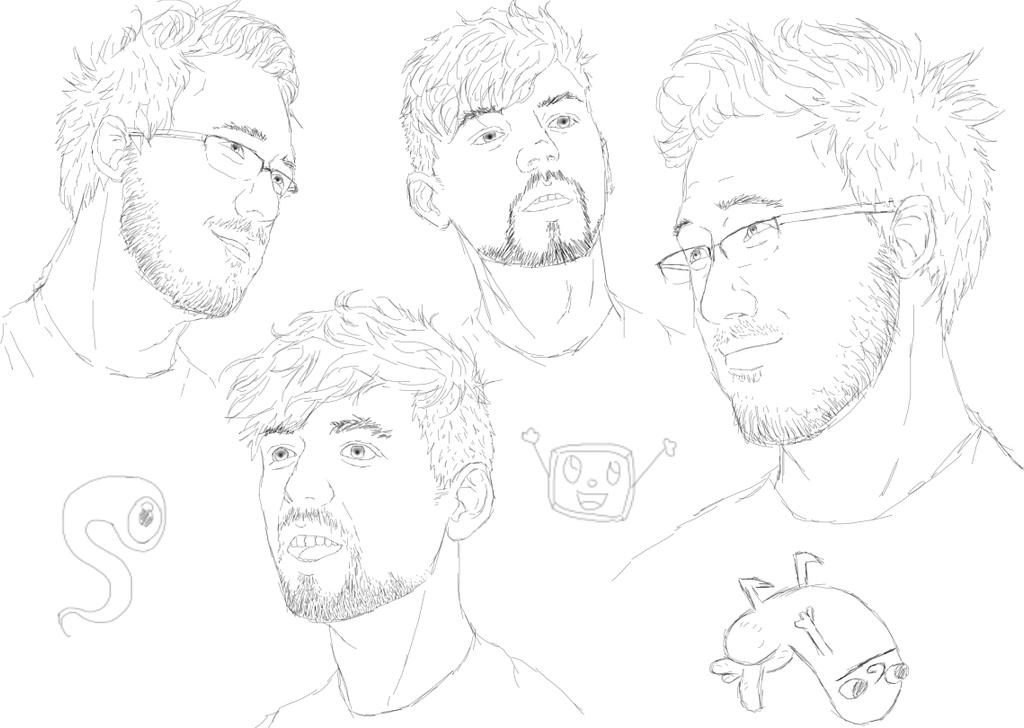 Mark and Sean sketches by AllexanderAnderson