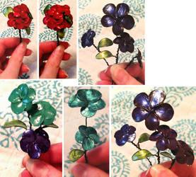 Nail Polish Flowers by Twilight13Fan