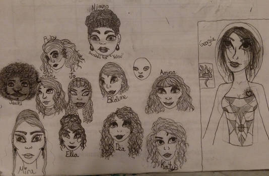 Fun Faces + Hair [And one bald girl]