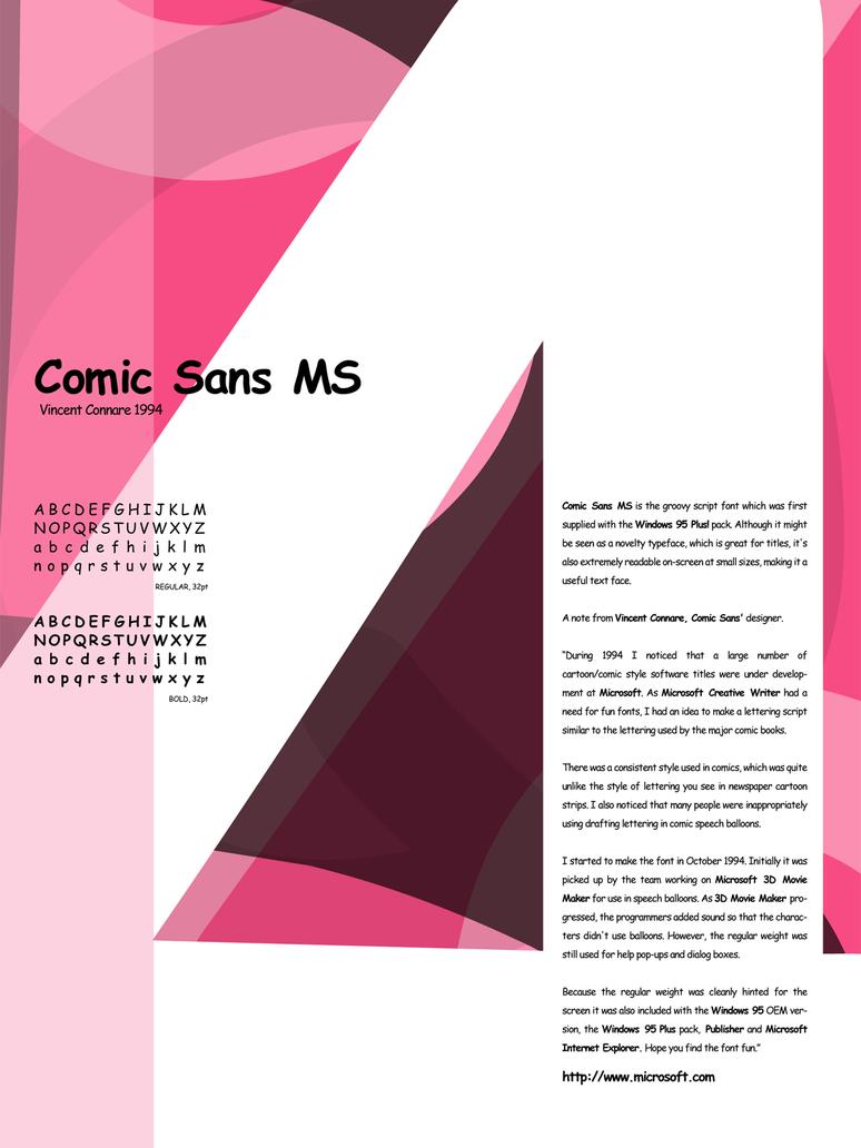 Type Study - Comic Sans MS by newklear