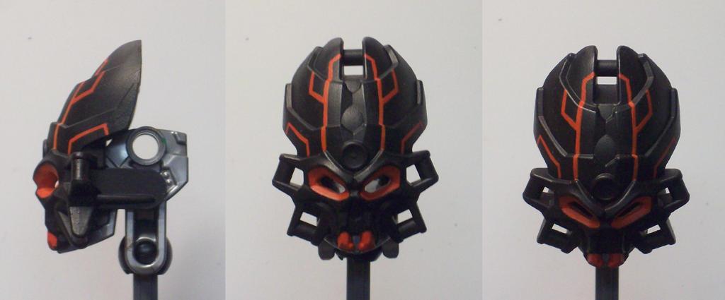 Red Tech Skull Spider by ModaltMasks