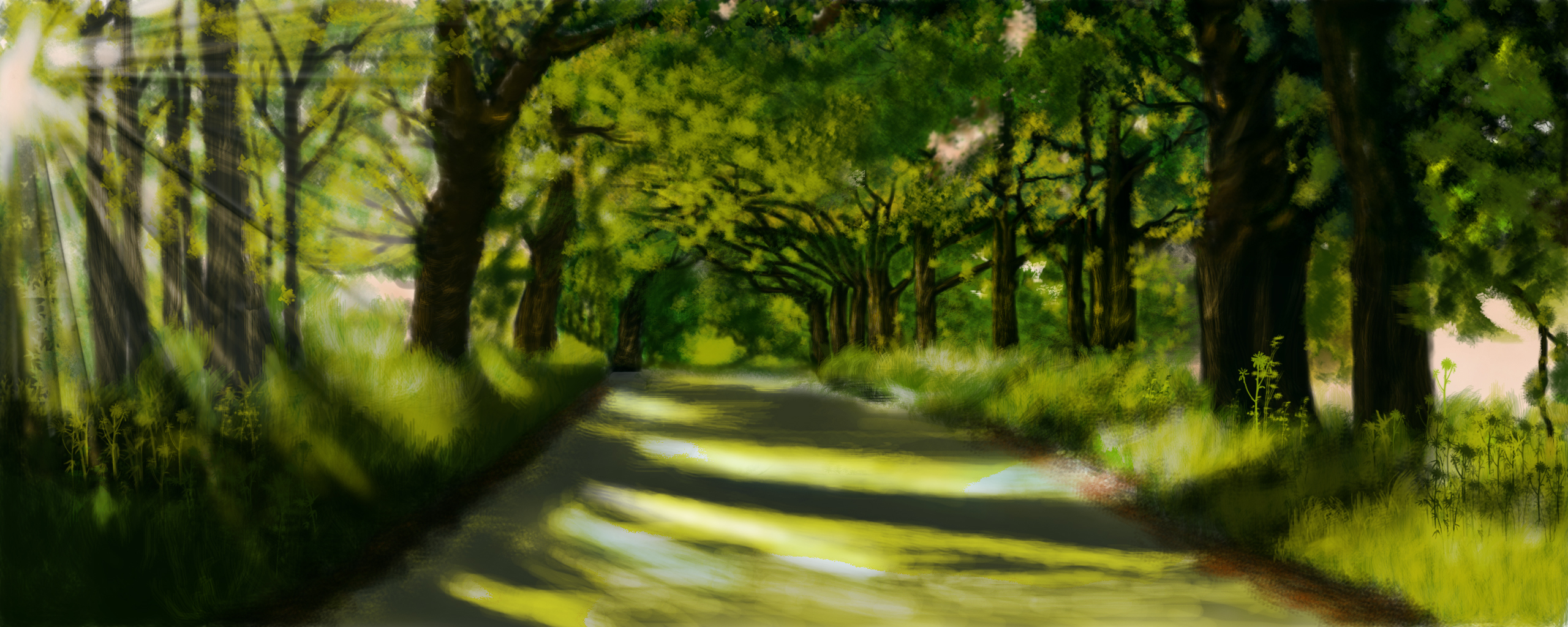 digital paintings scenery - photo #21