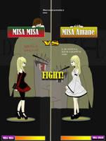 misa vs misa amane-colored by sasuhina123