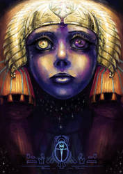Book of the Dead- Sky goddess Nut under light by ChanLiYu