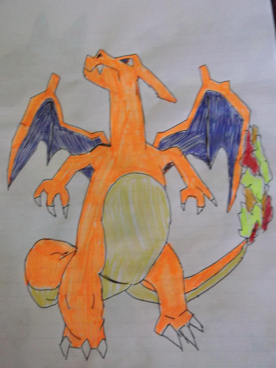 Charizard Drawing by FlyingLion76 on DeviantArt