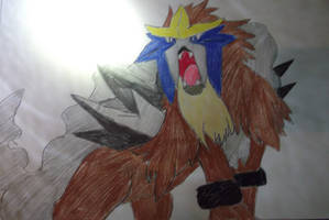 Shiny Entei by FlyingLion76