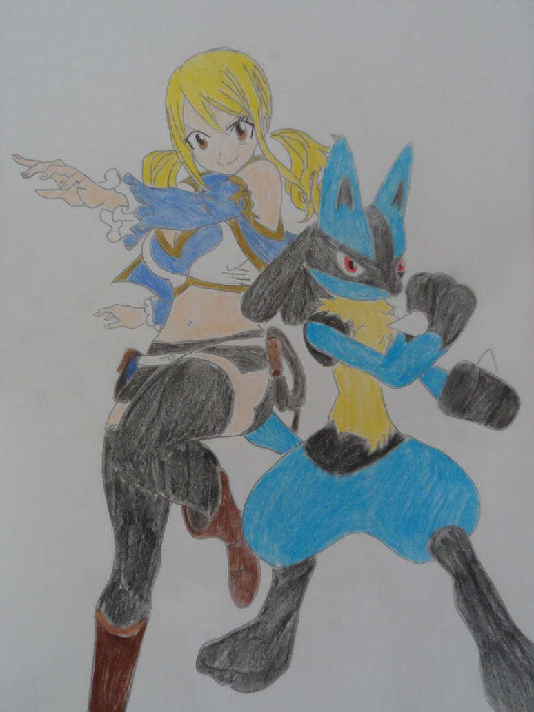 Lucy Lucario Battle by FlyingLion76