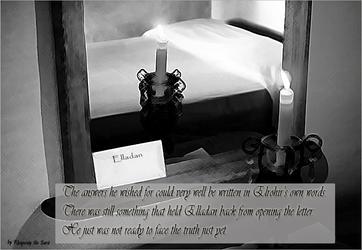 Making Choices - Story Art  Elrohir's letter by RhapsodyBrd