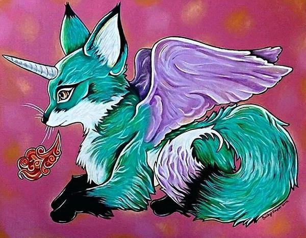 Fantasy Fox by thewolfyfox