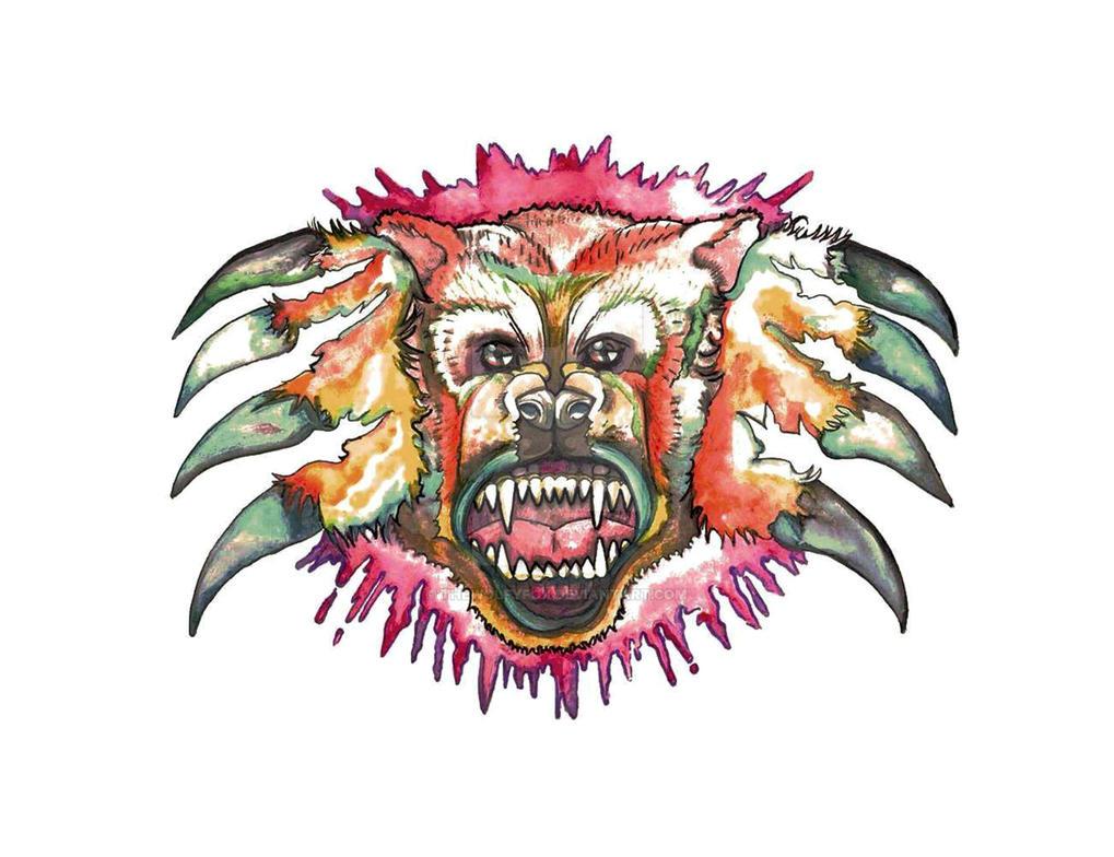 Bearattack by thewolfyfox