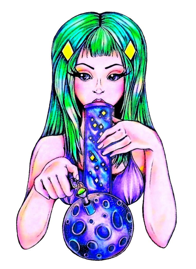 Ganja Lady by thewolfyfox