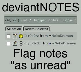 deviantNOTES - Flag notes by NekoDramon
