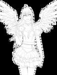 Lineart - Angel