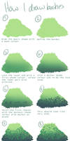 How I draw bushes