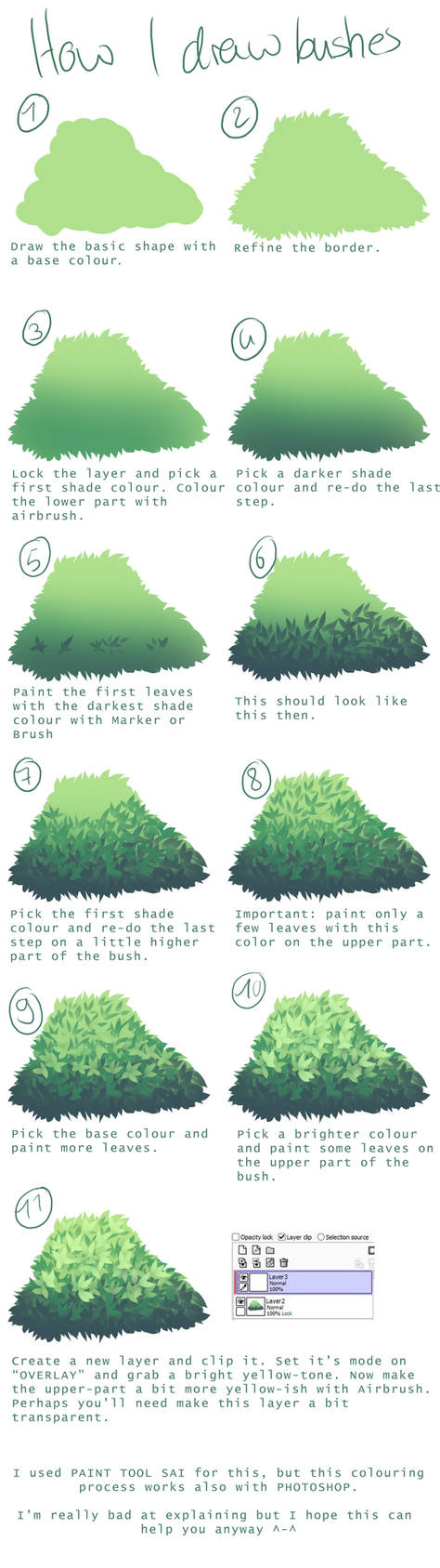 How I draw bushes by convelocity