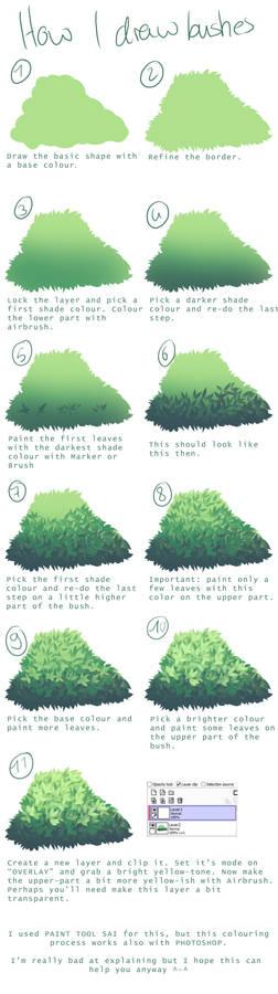 How I draw bushes