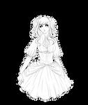 Lineart #21 - Gothic Lolita