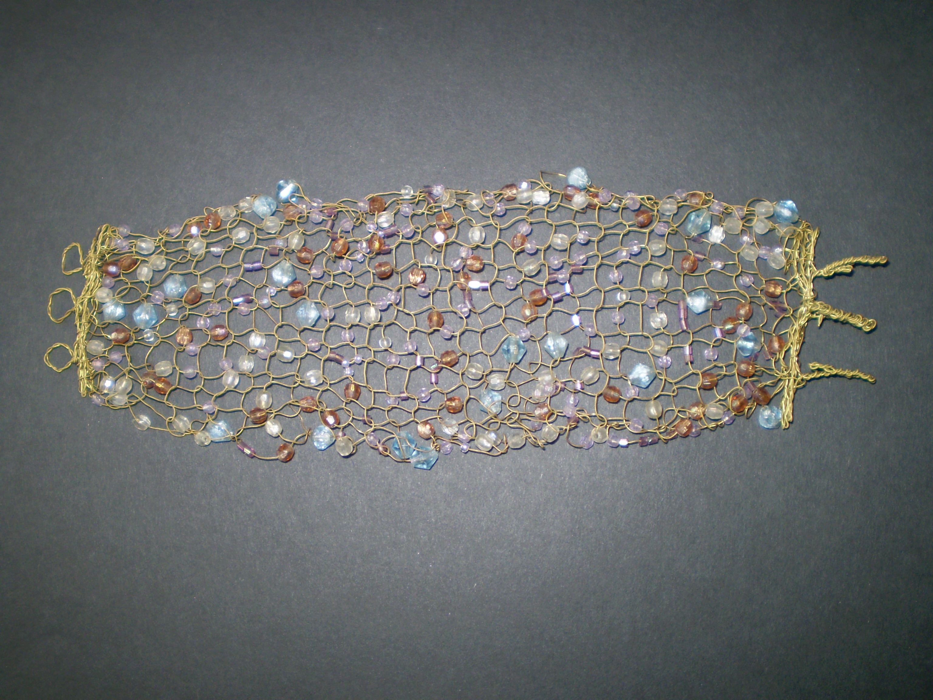Knitting with wire and beads by Pendraia on DeviantArt