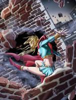 supergirl out by helljuancho