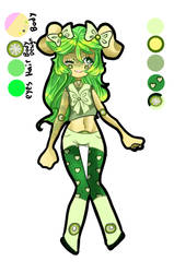 Lime themed dog girl adopt (Closed) by KittyAndNumber