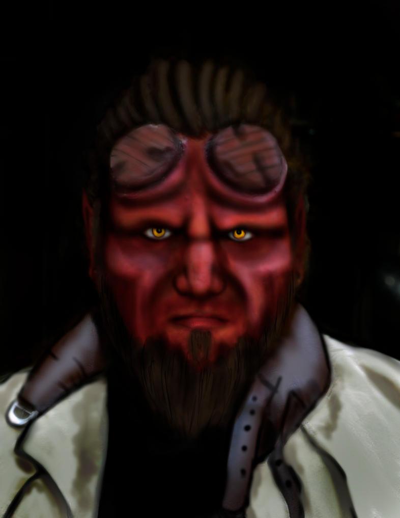 Hellboy by PixieAlchemi