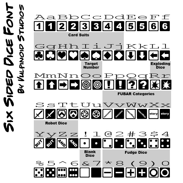 Six Sided Dice Font
