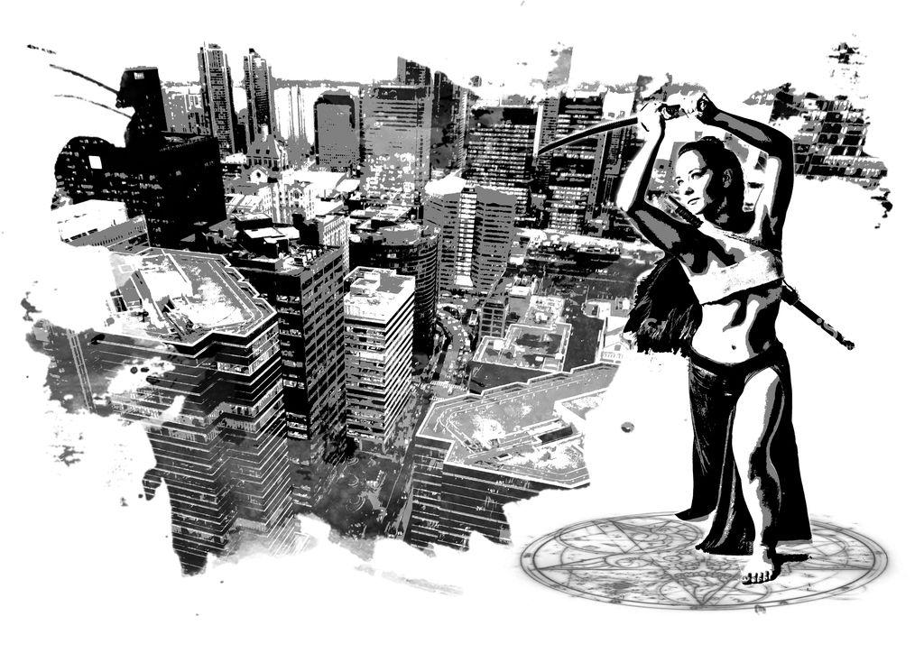 Cyberpunk Girl with Sword