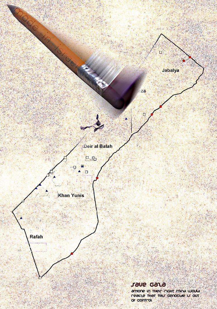 Fighting in Gaza by oNezzzART