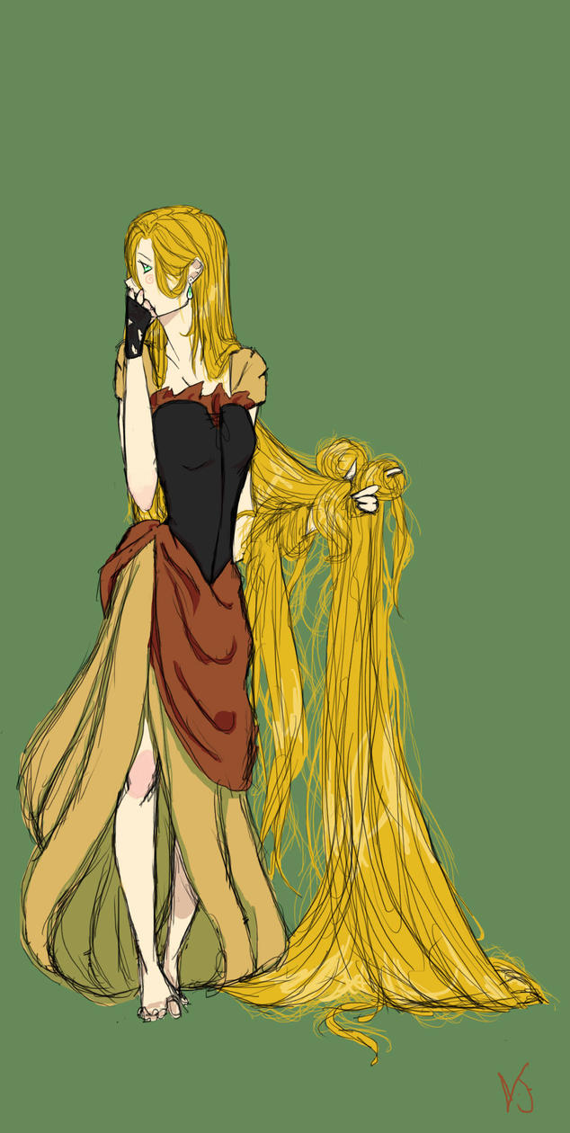 Rapunzel (colored) by twilightearth