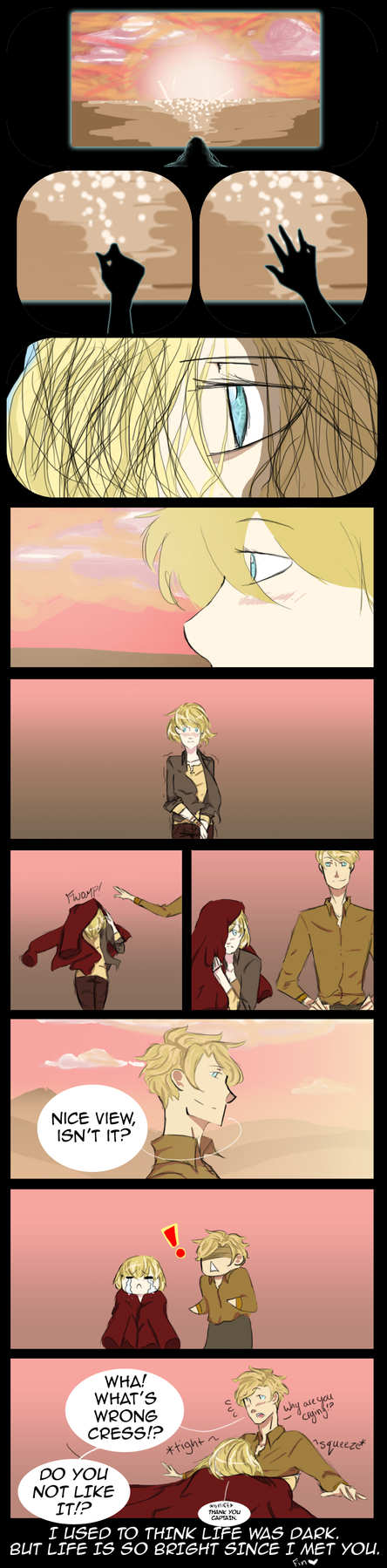 Thank You Captain (CressxThorne Fan Comic) by twilightearth