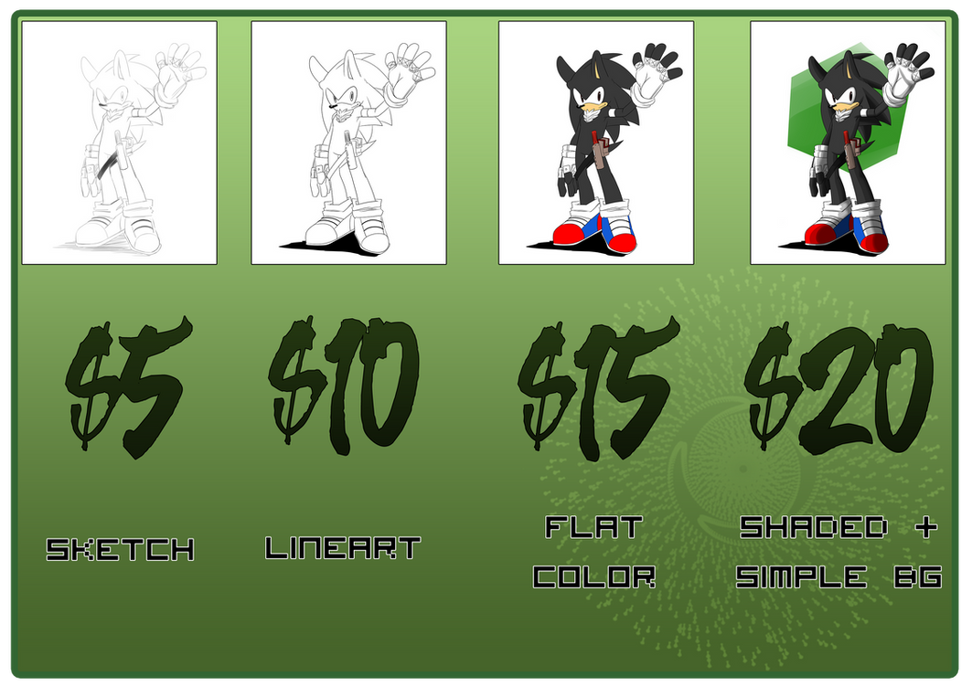 Commissions Price List by RageVX