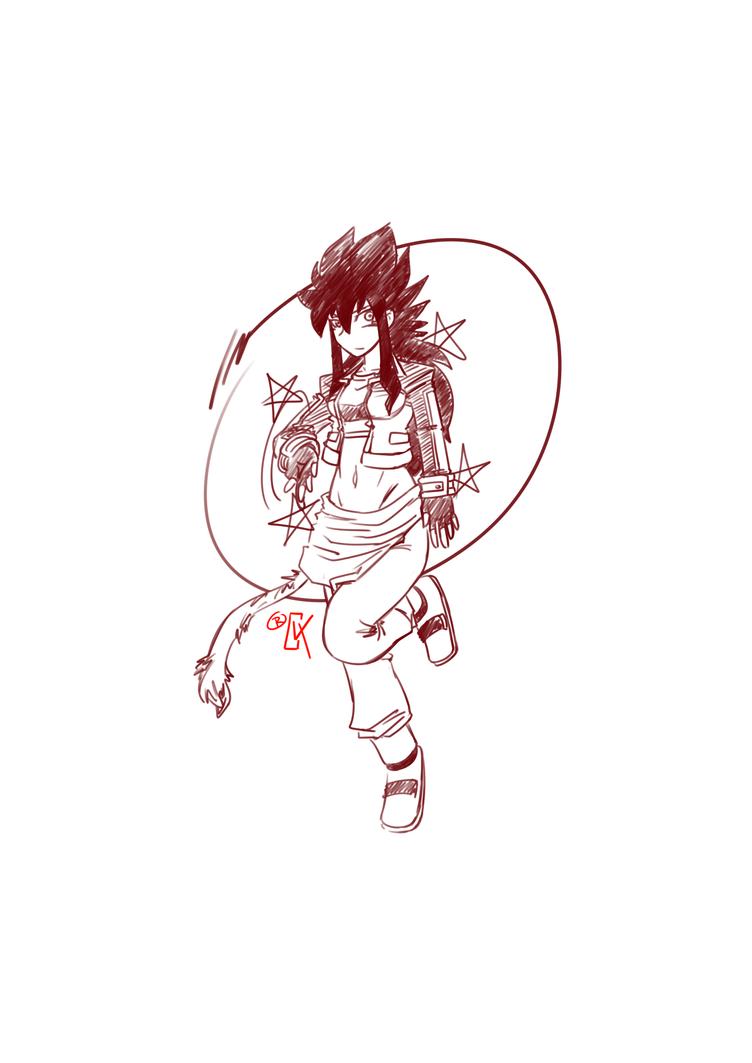 Doodle: Wild Trickster Keiko by RageVX