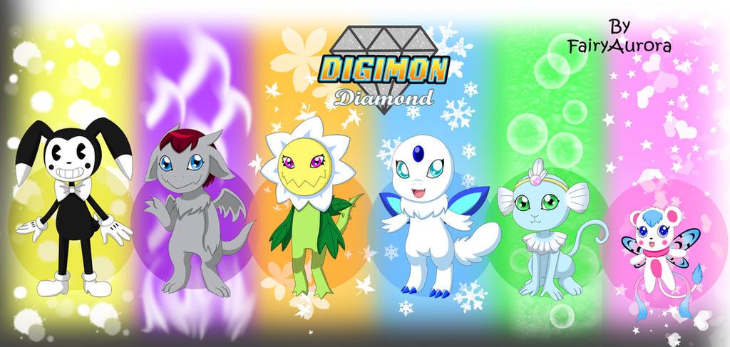 Team Digimon Diamond by FairyAurora