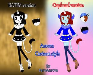 Aurora in cartoon style by FairyAurora