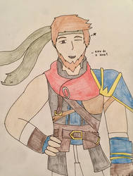 Me as Ike - by MrDrawingLover