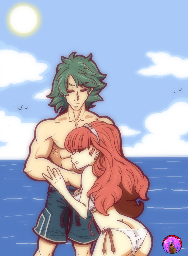 Alm and Celica by blaqueOX