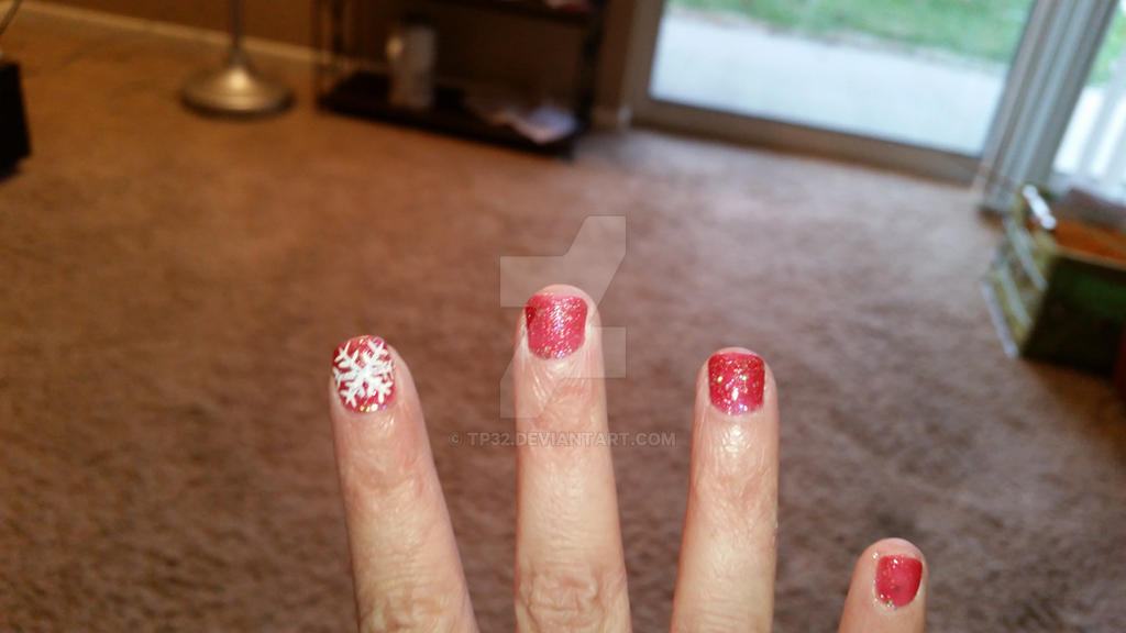 My Christmas 2015 nails by tp32