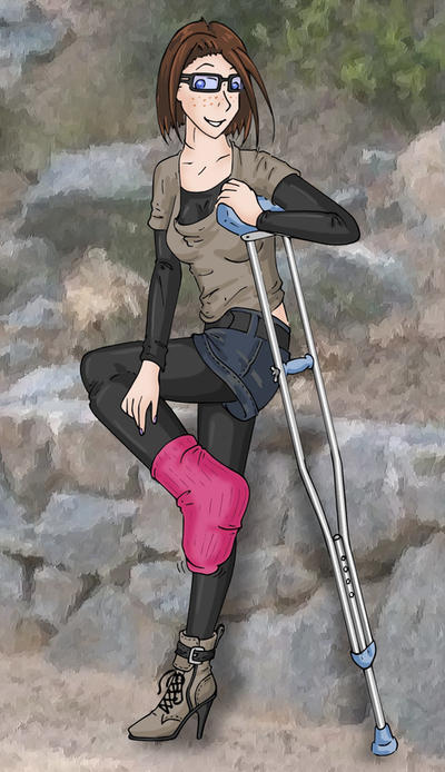 cast sock and crutch by excilion