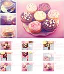 Cupcake pink photo effect