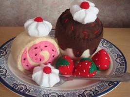 Felt Desserts by Bubble-warp