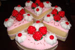 O' Strawberry Felt Cake