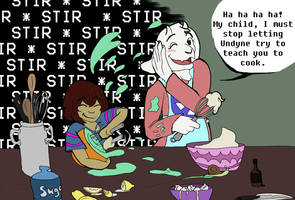 Cooking with Toriel by IvyLeafTea