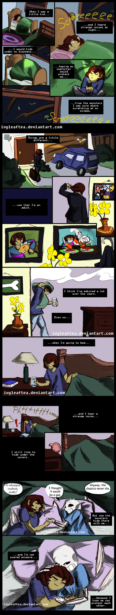 Undertale Comic: Hiding by IvyLeafTea
