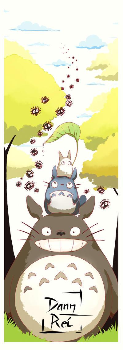 Totoro Bookmark by Dann-Rei